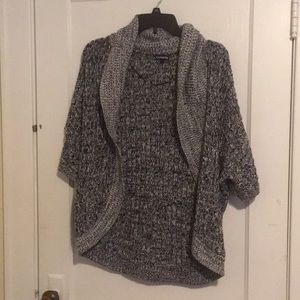 Black White and Grey Express Sweater Size M